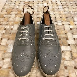 Grenson Shoes - Grenson Wingtip Dress Shoes (Gray, Size 10)